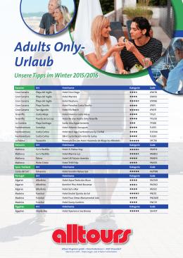Adults Only- Urlaub