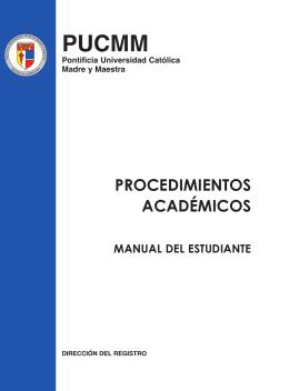procedimientos académicos - Pontificia Universidad Católica Madre