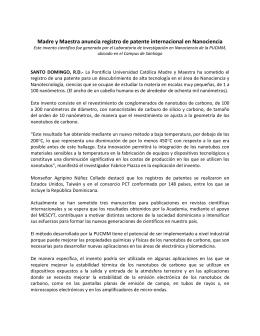 Madre y Maestra anuncia registro de patente internacional en