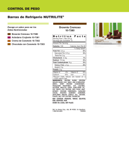 CONTROL DE PESO Barras de Refrigerio NUTRILITE®