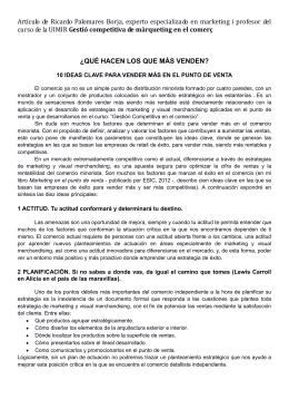 Artículo de Ricardo Palomares Borja, experto especializado