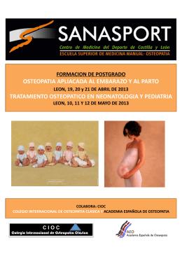 osteopatia apliacada al embarazo y al parto tratamiento