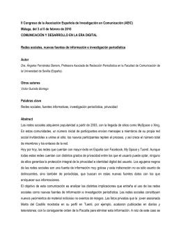 descargar ponencia completa - Asociación Española de