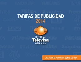 Tarifas - Editorial Televisa Colombia