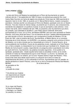Himno - Excelentísimo Ayuntamiento de Albatera