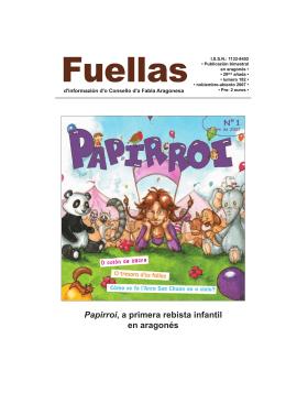 Papirroi, a primera rebista infantil en aragonés