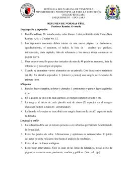 RESUMEN DE NORMAS UPEL Profesor Ramón