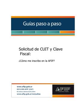 Solicitud de CUIT y Clave Fiscal: