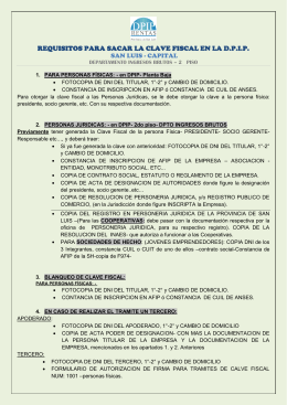 REQUISITOS PARA SACAR LA CLAVE FISCAL