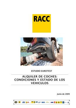 ALQUILER DE COCHES: CONDICIONES Y ESTADO DE
