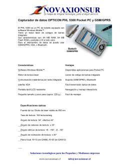 Capturador de datos OPTICON PHL 5300 Pocket PC y GSM/GPRS