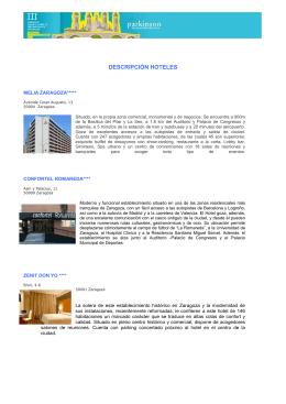 descripción de los Hoteles