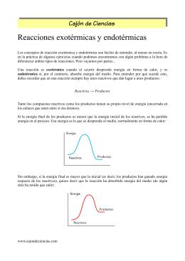 Reacciones exotérmicas y endotérmicas