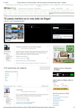 """""""El paseo marítimo es lo más bello de Sitges"""""""