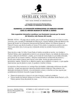 la exposición internacional de sherlock holmes