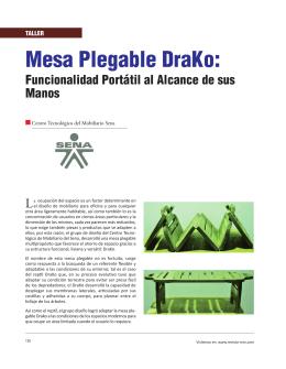 Mesa Plegable DraKo: - Revista El Mueble y La Madera