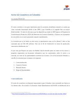 Sector de Cosméticos en Colombia