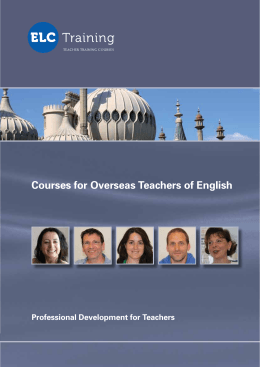 Courses for Overseas Teachers of English
