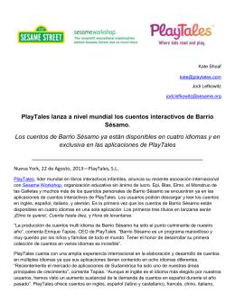 PlayTales lanza a nivel mundial los cuentos interactivos de Barrio