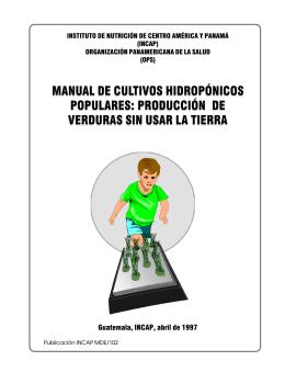 MANUAL DE CULTIVOS HIDROPÓNICOS POPULARES