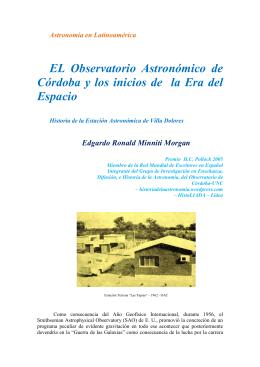 EL Observatorio Astronómico de Córdoba y los inicios de la Era del