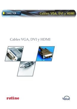 Cables VGA, DVI y HDMI