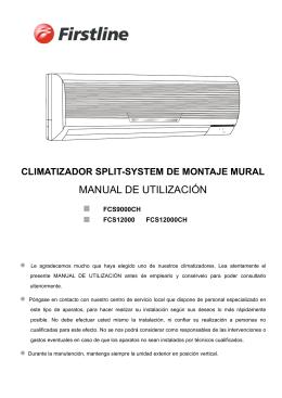 Manual completo del split mural 1x1 de 3000 fr con bomba de calor
