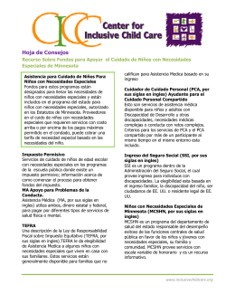 Hoja de Consejos - Center for Inclusive Child Care