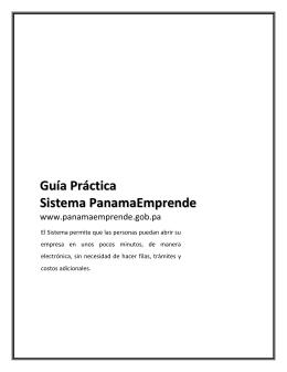 Guía Práctica Sistema PanamaEmprende