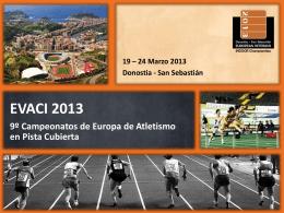 EVACI 2013 Campeonatos de Europa de Atletismo en Pista Cubierta