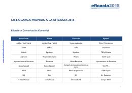 lista larga - Asociación Española de Anunciantes