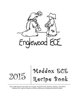 Maddox ECE Recipe Book