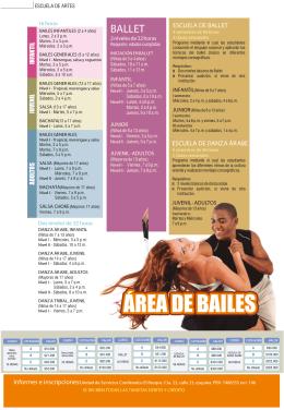 ÁREA DE BAILES - Comfenalco Quindio