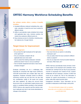Workforce Scheduling Benefits