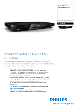 DVP3850K/55 Philips reproductor de DVD