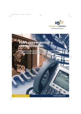 VoIP: convergencia y comoditización