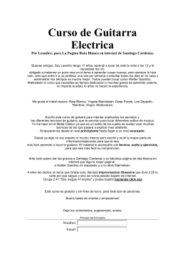 Curso de Guitarra electrica (250,3 kB