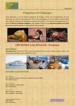 OPCIONES GALÁPAGOS - Premium M/S ATHALA