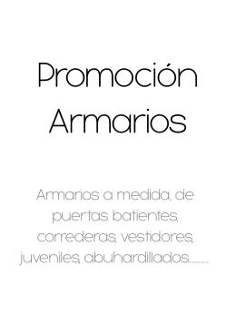 Promoción Armarios