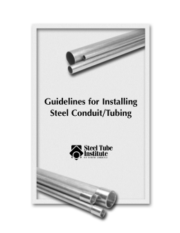 Guidelines for Installing Steel Conduit/Tubing