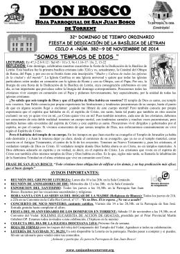 32º DOMINGO - sanjuanboscotorrent.org