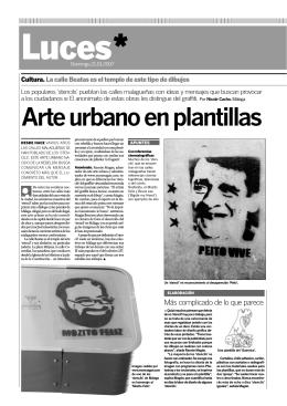 Arte urbano en plantillas