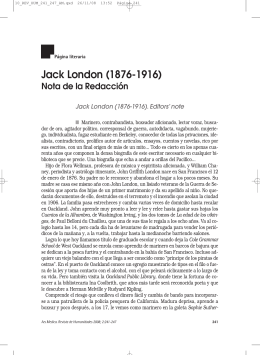 Jack London (1876-1916) - Revista de Humanidades