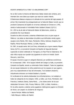 Document 4. Història de l`handbol