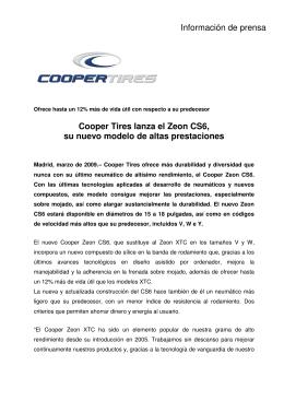 Lanzamiento ZEON CS6