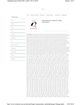 Página 1 de 9 Adaptador para Portatil HP c/cable 19V/4.74AH 13