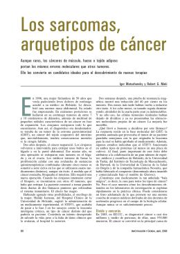 Aunque raros, los cánceres de músculo, hueso o tejido