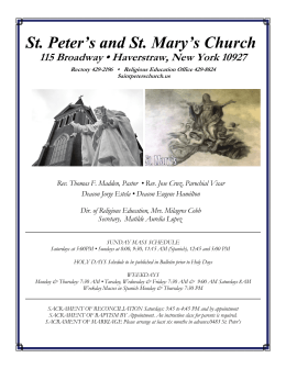 October 10, 2015 - St.Peter`s & St.Mary`s Church