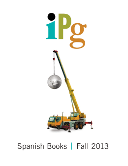 Spanish Books Fall 2013 - Independent Publishers Group