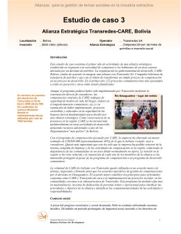 Estudio de caso 3 Alianza Estratégica Transredes-CARE